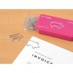 """Pig Shaped Paper Clips """"..."""
