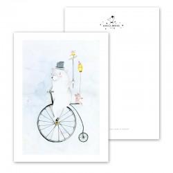 "Postcards "" Cycling Bear "",..."