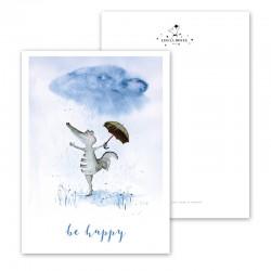 """Postcards """" Be Happy..."""