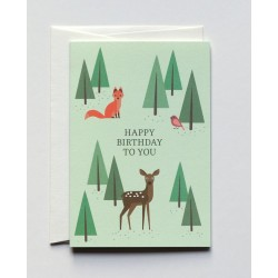 """5 Greeting Cards A6 """" Bambi..."""