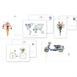 Set of 5 Postcards,...