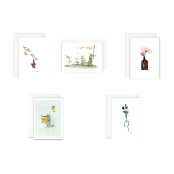 Set of 5 Greeting Cards,...
