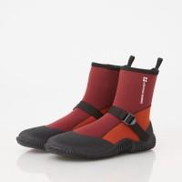 waterproof elastic lightweight boots dark red