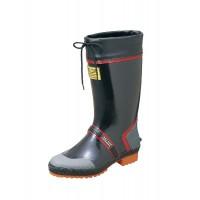 stivali di gomma resistente flessibili con suola antiscivolo nero