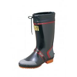 flexible durable rubber boots with non slip sole black