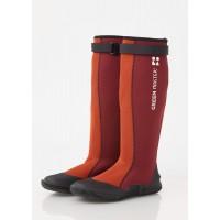 waterproof ultralight comfort rubber boots dark red