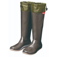 stivali impermeabili portatili pieghevoli di gomma con la custodia dotata moschettone charcoal