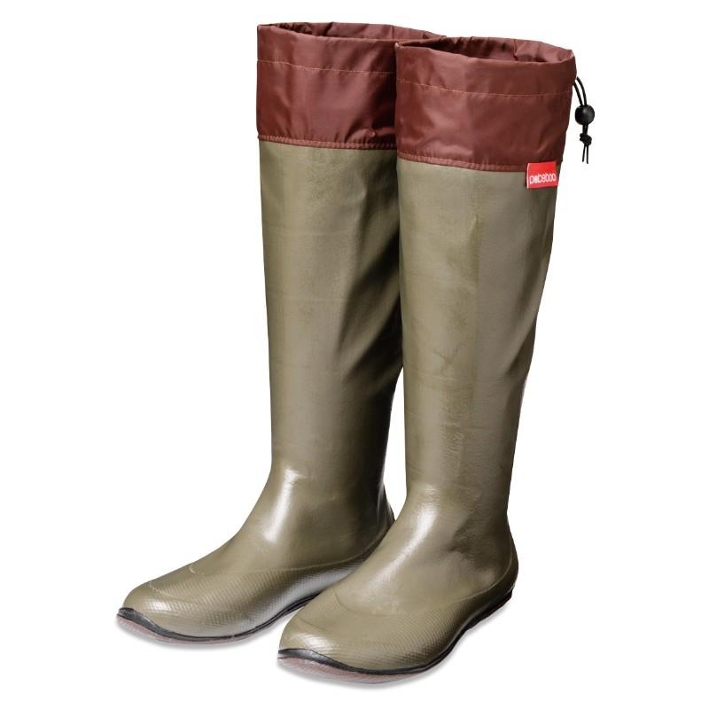 lightweight compact portable waterproof rubber boots pokeboo khaki