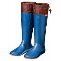 stivali impermeabili portatili pieghevoli di gomma con la custodia dotata moschettone royal blue