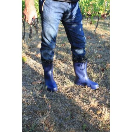 image ultralight waterproof rubber eva boots for gardening and vegetable-fruit garden color navy