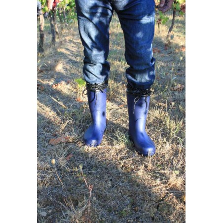 image waterproof boots for rainy day and gardening agricolture color navy