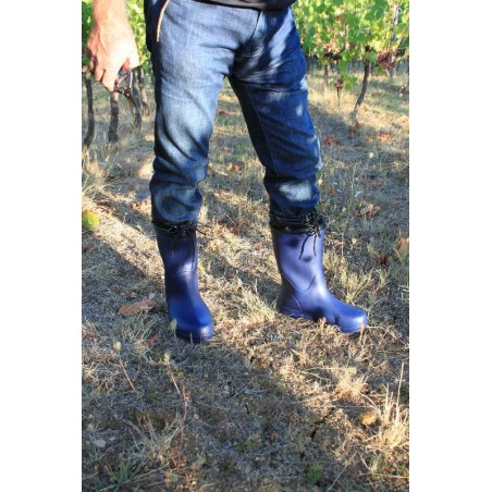 image ultralight waterproof boots for fruits-vegetable garden and rainy day color navy men