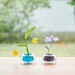 Flower Vase Barium Glass...